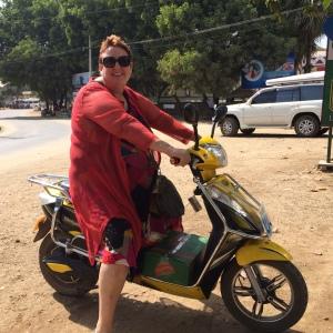 E-bikes - a fun, enviro-friendly way to see the sights of Bagan, and go shopping afterwards