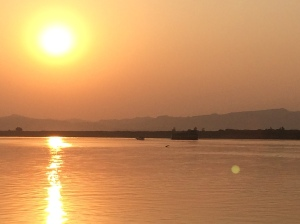 A sunset cruise on the Ayeyarwady River, Bagan